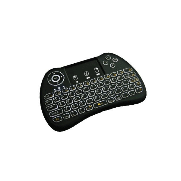 (Backlit-Version) Ovegna H9i: H9i Wireless QWERTY Wireless Mini-Tastatur mit Touchpad für SMART TV, Mini-PC, Konsolen, Bananen-IP, Raspberry PI, Android TV-Box, KODI, Windows 8/7/10 Hover