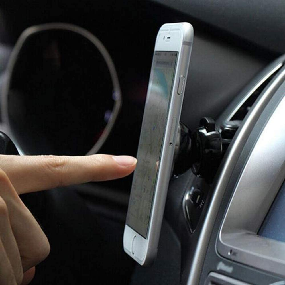 "Ovegna S08: 360 Degree Rotation Magnetic Phone Holder for iPhone Samsung Motorola Huawei ASUS HTC Nexus GPS 7"" Tablets Hover"