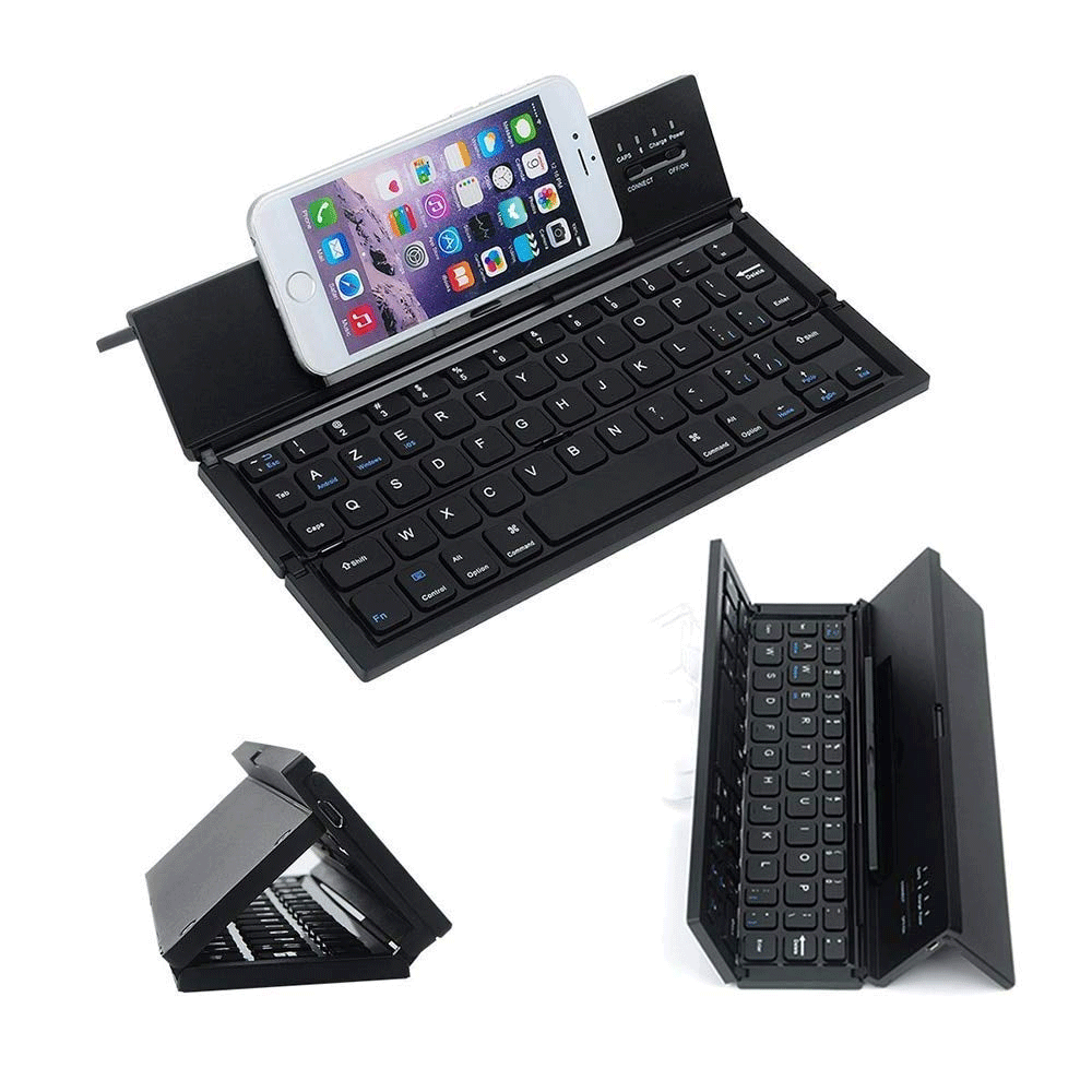 Ovegna CL8: Portable and Foldable Keyboard, QWERTY , Wireless, Bluetooth, for Smartphones, Tablets, Laptops, Game Consoles, iOS, Android, Windows