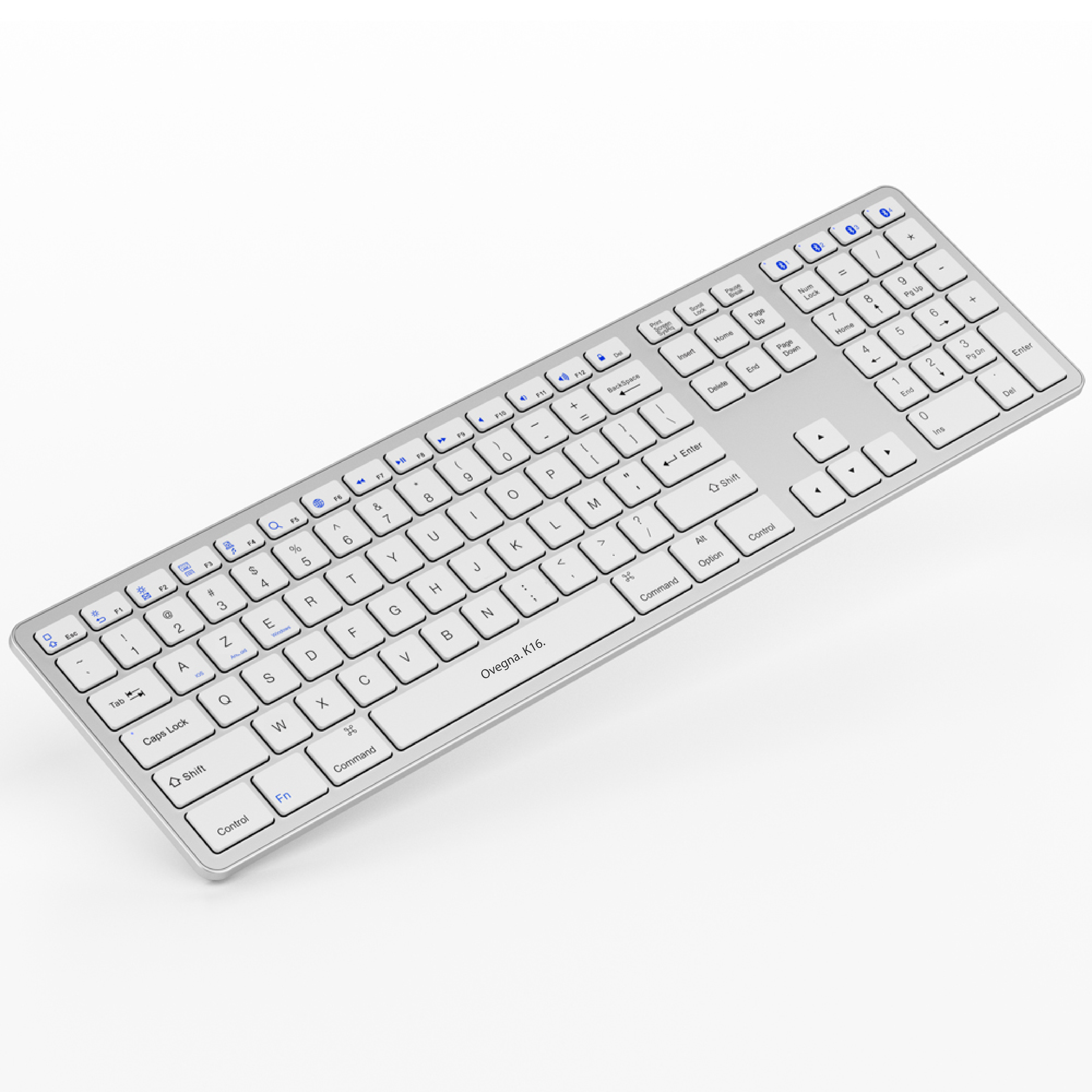 Ovegna K16: Keyboard AZERTY Ultra Thin Keyboard, 4 in 1 (Supports 4 Bluetooth devices simultaneously), Wireless, for Smartphone, Tablet, Huawei, iPhone, iPad, SmartTV, Computer, Android, iOS, Windows