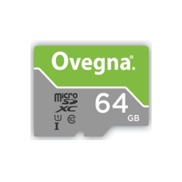 Ovegna MicroSDXC UHS-I Ultra Memory Card - Read Speed Up To 100MB/S, Class 10, U1, with Adapter and Case (64 GB)