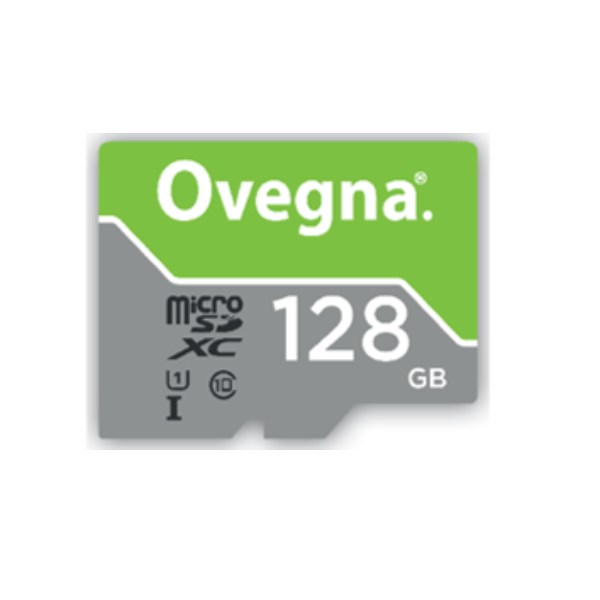 Ovegna MicroSDXC UHS-I Ultra Memory Card - Read Speed Up To 100MB/S, Class 10, U1, with Adapter and Case (128GB)