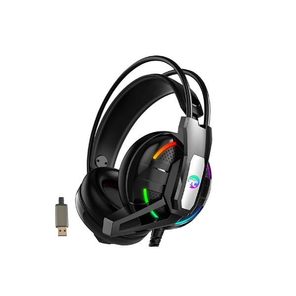 Ovegna A12: Wired Gaming Headset, 7.1 Surround Sound, Noise Canceling for PS4, USB Audio Socket for PS4, Xbox One, PC, Mac