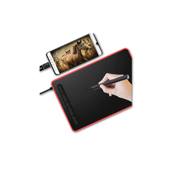 Ovegna W9: Digital Graphics Tablet, Micro USB, Stylus, 10 Inches, for Android and PC Smartphones, MacOS and Windows (Blue) Hover