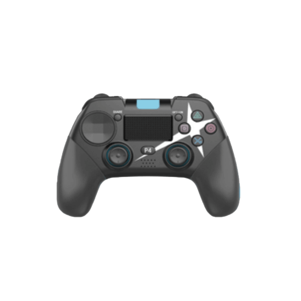 Ovegna P01: Wireless Gamepad for Playstation 4, Android and PC, Gamepad, Bluetooth, Double Vibration, 1000mAh Rechargeable Lithium Battery, Speaker, Jack Socket (Black)