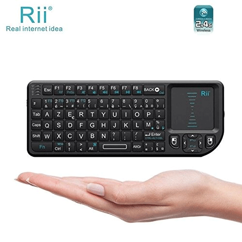 Riitek – Rii Mini Wireless Keyboard X1 Wireless Compact Keyboard for Windows Mac OS X Linux Android – Smart TV – Xbox 360 playstation 3 and 4 and One – Raspberry Pi (Category: Keyboard) Hover